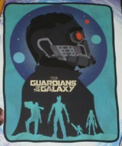 NEW Guardians of the Galaxy Plush Throw Gift Movie Blanket StarLord Groot Poster