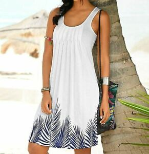 Holiday Summer White Dresses Casual beach dresses Summer Spring Sleeveless