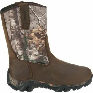 NIB Wolverine W08053 Coyote XTR Insulated Leather Hunting Boots Brown Camo WIDE $69.95