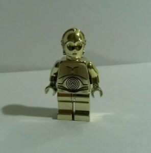 Lego Star Wars Chrome Gold C-3PO Misprint 2007 Limited Promotional Giveaway VHTF