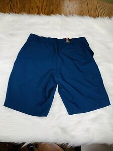 """NWT WOMENS UNDER ARMOUR 9"""" HEAT GEAR GOLF SHORTS SIZE 6 Navy Relaxed Fit $44.99"""