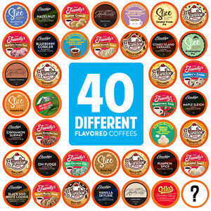 Two Rivers Flavored K Cups Coffee Pods Variety Pack for Keurig K Cup 40 Count