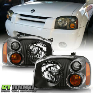 For 2001 2004 Frontier Black Upgrade Headlights Headlamps Replacement LeftRight $69.99