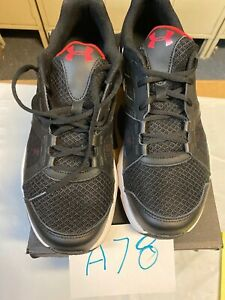 under armour shoes mens 11 Blk Red Wht $45.00