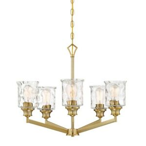 Designers Fountain Drake 5 Light Chandelier Brushed Gold - 96385-BG