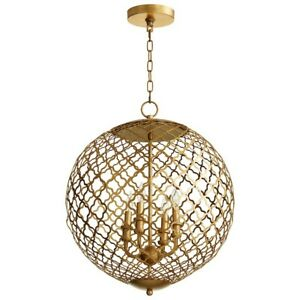 Cyan Design 4 Light Skyros Gold Leaf - 7973