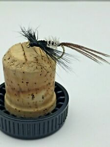 BestCity Fly Fishing PRIME collection Spent Black Drake MAYFLY 8 PACK size 10 12