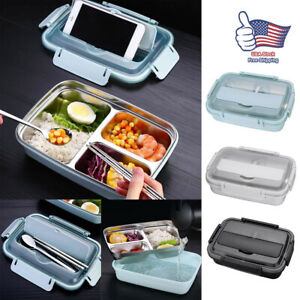 NEW Women Kids Stainless Steel Thermal Insulated Lunch Box Bento Food Container