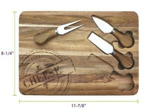 Acacia Cheese Serving Set Board amp; Cheese Tools Set TB Home Cutting Board New