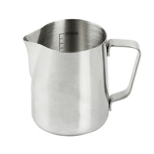 1PC Milk Frother Cup Stainless Steel Cup 350ml Measurement Cup For Coffee Milk
