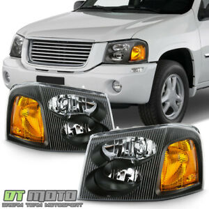 2002 2009 GMC Envoy 02 06 XL Black Headlights Headlamps Replacement LeftRight $79.99