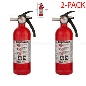 Dry Chemical Fire Extinguisher 5 B:C Emergency Home Car Auto Garage Fire Safety