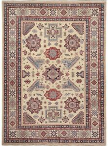 Vegetable Dye IVORY Super Kazak Hand-Knotted Traditional Area Rug Oriental 9x12