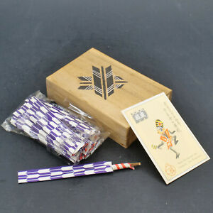 Vintage party fortunes toothpicks in wooden box Takahashi made in Japan