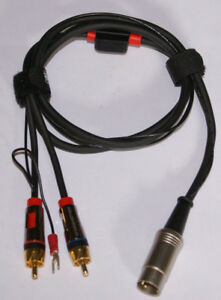 Bang Olufsen Turntable Cable 5 Pin Male DIN to Monster RCA Males W Ground NEW $29.99
