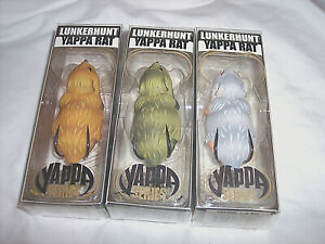 3 Yappa Mouse Fishing Lures Top Water Lure Rat Large Mouth Bass Mouse Fish Lure