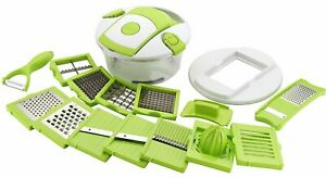 Latest 15 In 1 Vegetable Cutter Slicer Chopper Dicer Grater Green knife Sharp