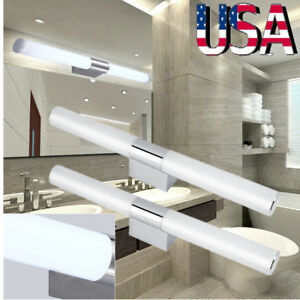 Modern Bathroom Toilet Vanity Wall Makeup Waterproof Light Mirror Front LED Lamp