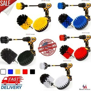 Set 3 Pack Drill Brush Power Scrubber Cleaning Brush Extended Long Attachment