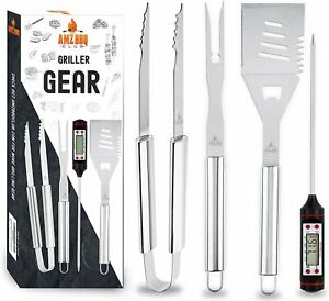 BBQ CLUB Barbecue Accessories & Grilling Tools 4 Piece Set Premium Quality Grill
