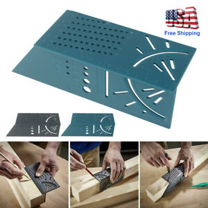 45/90 Degree 3D Mitre Square Angle Measuring Woodworking Tools with Gauge Ruler