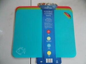 NEW Set of 4 Crofton Color Coded Flexible Cutting Mats 15x12