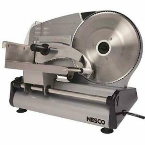 Nesco Commercial Home Electric Meat Cheese Food Slicer Detachable 8.7quot; Blade