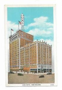 Vintage Louisiana Linen Postcard Jung Hotel New Orleans Most Modern Hotel $0.99