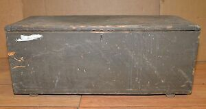 Antique ships tool box collectible carpenters chest early tool trunk pine $59.99