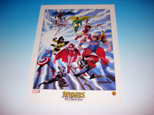 Avengers Earth's Mightiest Heroes Lithograph Alex Ross Art Marvel Comics New