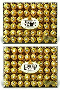 2 X Ferrero Rocher Hazelnut Chocolates 2 Packs 48 count Each