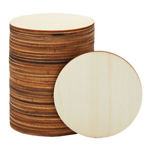 36 Pack Unfinished Round Natural Rustic Wooden Cutout Circle for DIY 3 Inch $11.99