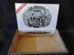 RARE Ca. 1900's F. H. Mertz Cigar Box Saginaw, Michigan