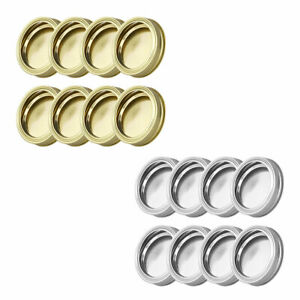 8Pcs Detachable Stainless Steel Sprouting Jar Lids Bands Cap for 70mm Mason Jars