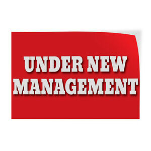 Decal Stickers Under New Management Business Vinyl Store Sign Label $19.99