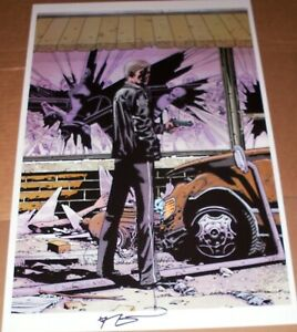 Robert Kirkman SIGNED Walking Dead #75 Variant Art Print Lithograph SDCC 11x17