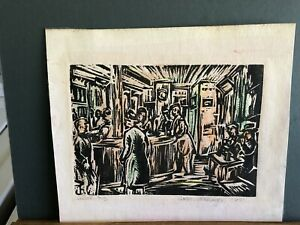 Signed Wedo georgetti lithograph of a London Pub '67'. $125.00