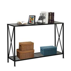 Console Table Modern Sofa End Accent Desk Entryway Hallway Hall Furniture Wood $45.95