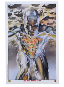 Alex Ross Silver Surfer Lithograph Marvels #3 Herald Of Galactus Marvel Comics