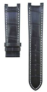 22mm Black Leather For Gc Guess Collection GC420005G Watch Strap Band 251GSC