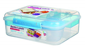 Collection Bento Box Plastic Lunch Food Storage Container 6.9 Cup Compartment