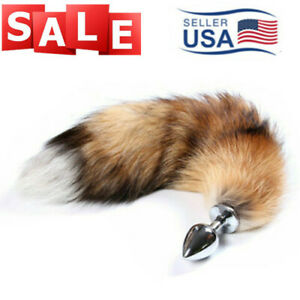 Small Fox Tail W Metal Plug Romance Game Funny Toy Cosplay Role Playing USA