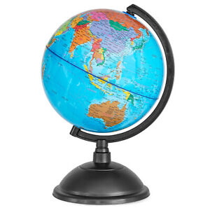 Spinning World Globe for Kids 8quot; Globe of the World for Geography Students