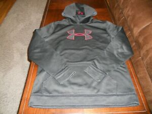Under Armour boys hoodie size Y XL youth extra large sweat shirt loose Storm $15.00