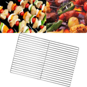 Stainless Steel Grill Net Safety Portable Thicken Barbecue Grill Net Grid Mat
