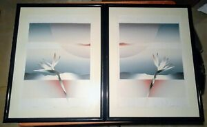 80#x27;s Art Deco Prints 2 Originial Lithographs Paradise I and II by W.E. Coombs $240.00