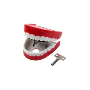 Novelty Red Talking Teeth Practical Joke Office Prank Move Wind Up Toy Gag Gift