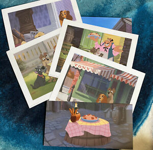 1998 Disney Lithograph Portfolio LADY AND THE TRAMP The Disney Store Exclusive $16.00