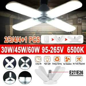 E27 LED Garage Light 30W/45W/60W Bulb Deformable Ceiling Fixture Lights