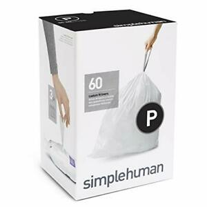 simplehuman Code P Custom Fit Liners Extra Large Ultra Trash Bags 3Refill 60 Cou